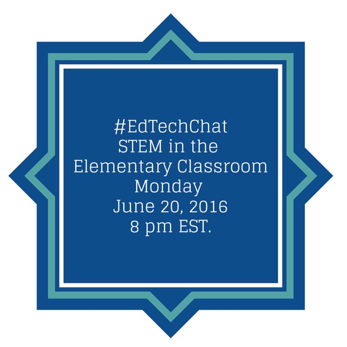 Come discuss #STEM in the elementary classroom during this week's #edtechchat! #elemchat #edtech https://t.co/S8QXbSv8ed