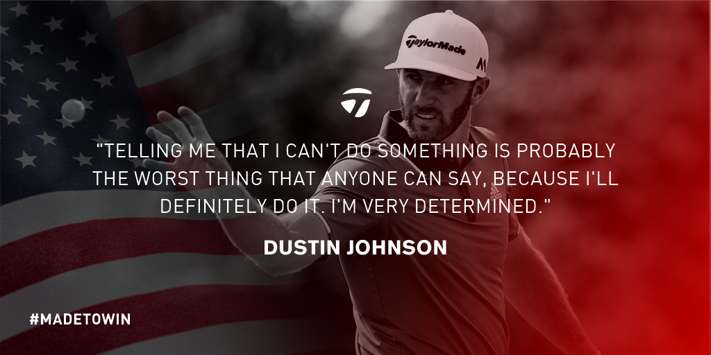 Dustin Johnson is #MadeToWin https://t.co/2qF6czDXrE