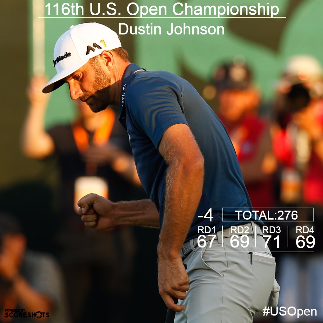 Dustin Johnson is a #USOpen champion! https://t.co/vywAR6P8Fs
