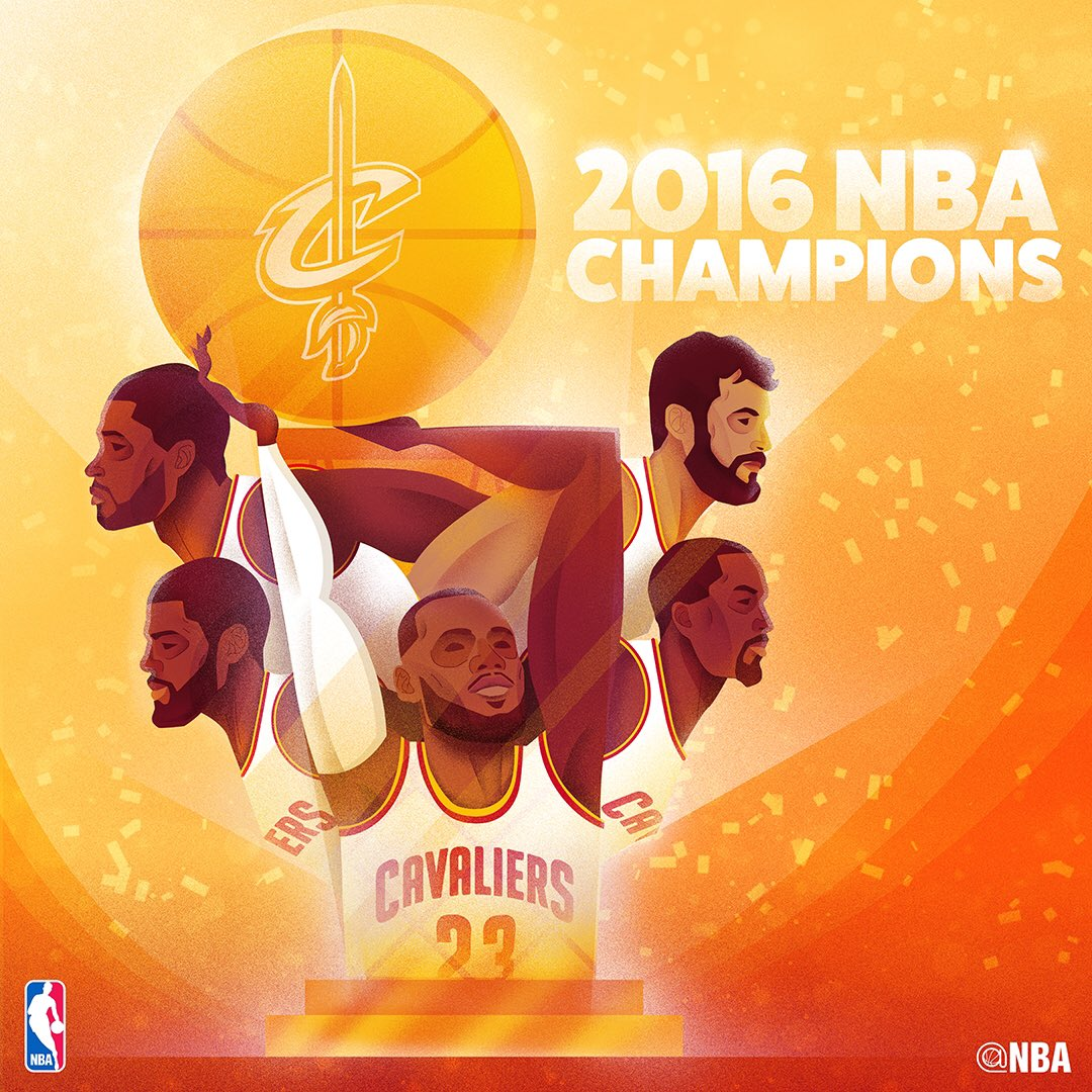 RT @NBA: The @cavs are the 2016 #NBAFinals Champions #ThisIsWhyWePlay https://t.co/ntWehEQ8mM
