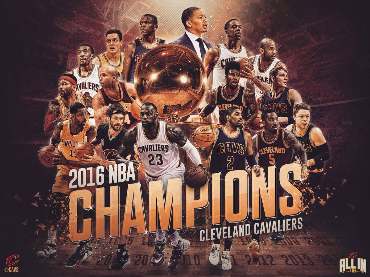 We did it, Cleveland. #NBAChampions | #OneForTheLand https://t.co/7Hndm6YaB1