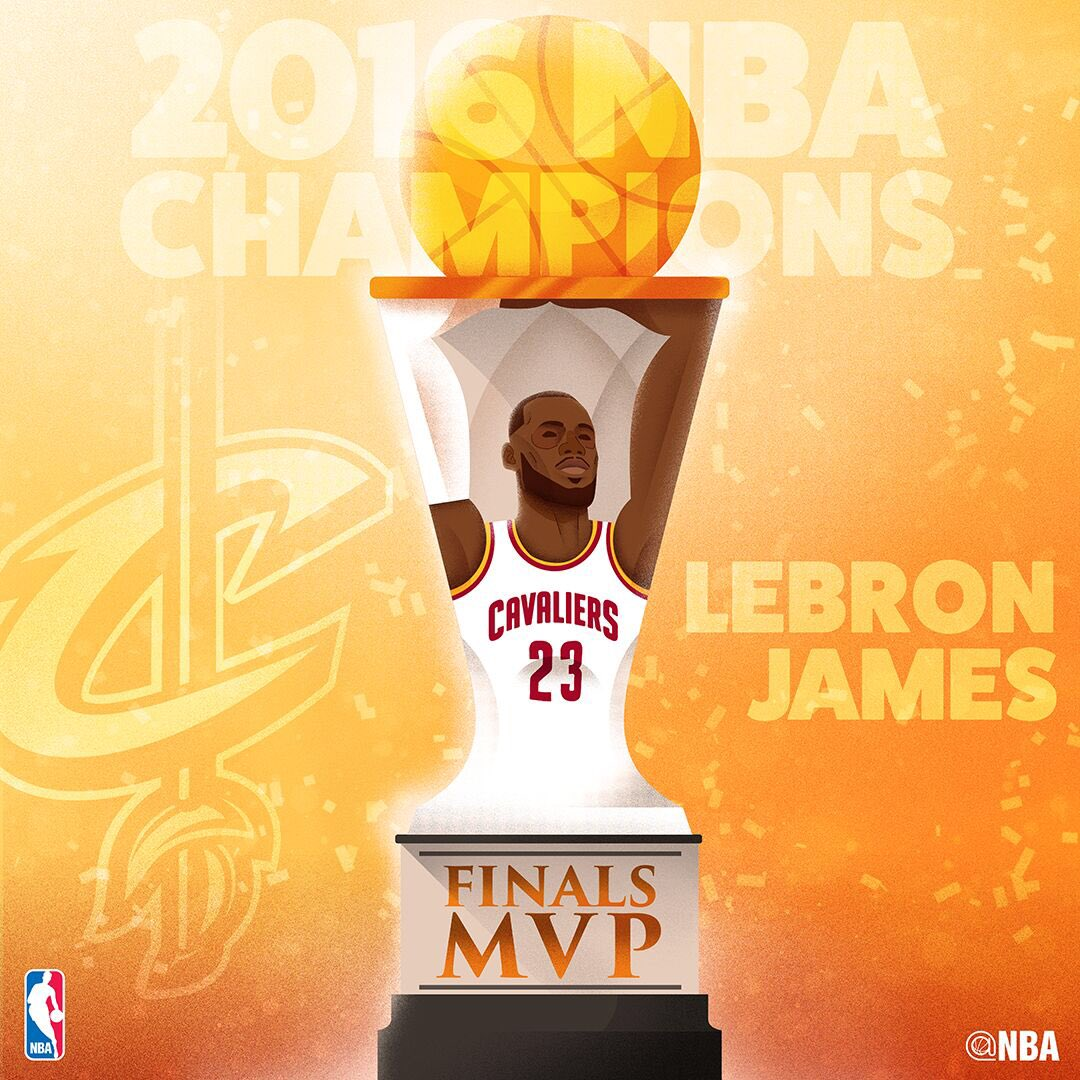 Congrats to the #NBAFinals MVP @KingJames https://t.co/UNGQ2j5HLE