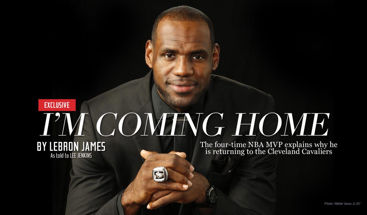 """I'm coming home"": Re-read LeBron's letter announcing his return to Cleveland https://t.co/y8JlxukhoW #NBAChamps https://t.co/wziIoBqcEi"