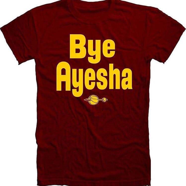 #ByeAyesha #CavsAllIn2016 #LebronFinalsMVP https://t.co/35nGDdxvVK