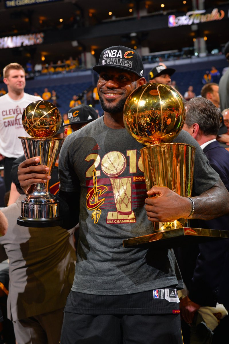 LeBron led all players on both teams in pts, reb, ast, stl & blk. He is the 1st player in Finals history to do so. https://t.co/Uu2eE7lLaF