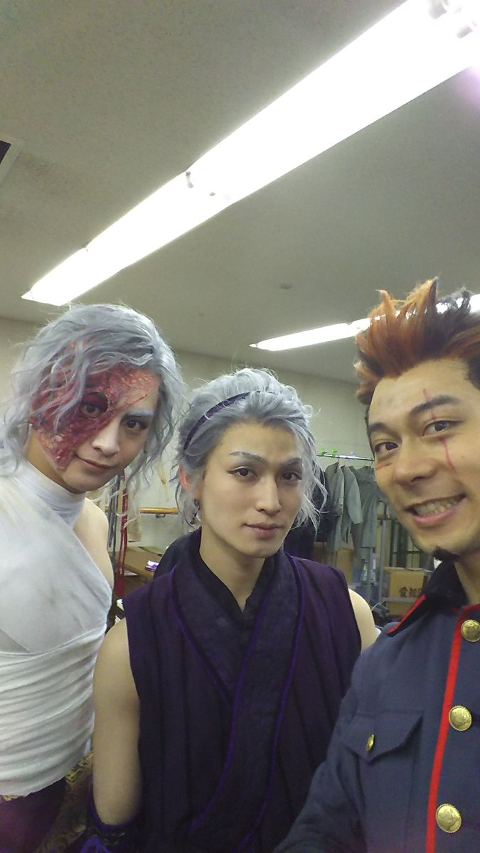 久しぶりに曇天に笑う。写真館。風魔小太郎、白子の兄弟‼小澤亮太と松田凌。二人とも運動神経が良い!教えられたこと、さっとで