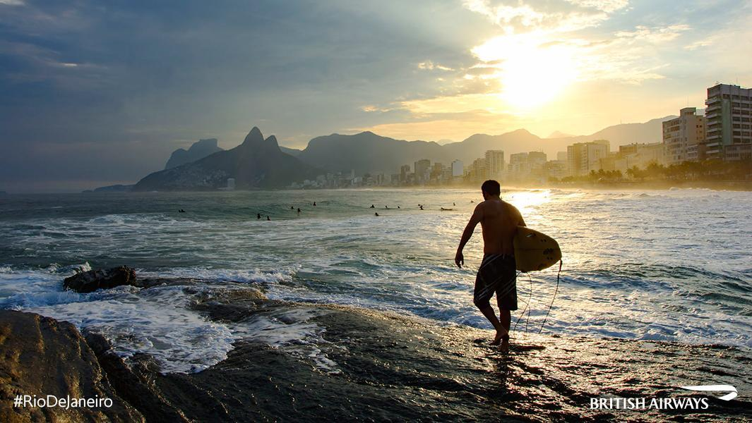 The Arpoador side of Ipanema beach is a surfer's paradise. Plan your trip to Rio.