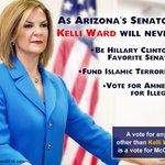 MT @TeamWardPima: #RetireMcCain Arizonas shame. The country is counting on #Arizona to elect @KelliWardAZ https://t.co/PIM4gWISh2 #PJNET