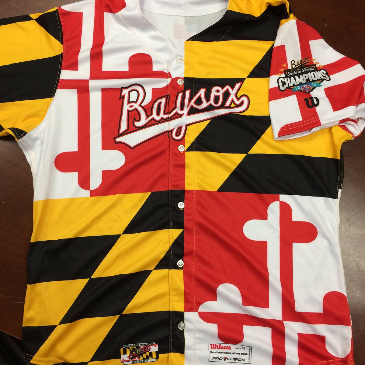 The Baysox will show some serious Maryland Pride with these special jerseys during the game Sunday, June 26 https://t.co/6nHsDmbuYG