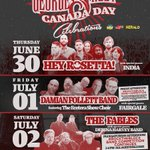 Celebrate #CanadaDay2016 on George St., Jun 30-Jul 2 w/ @heyrosetta India @Fairgale The Fables @DerinaHarvey & more: https://t.co/nHidloOsCr