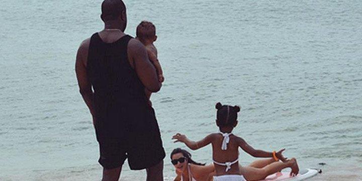 Kim Kardashian wishes Kanye West a Happy Father's Day with cute family photo
