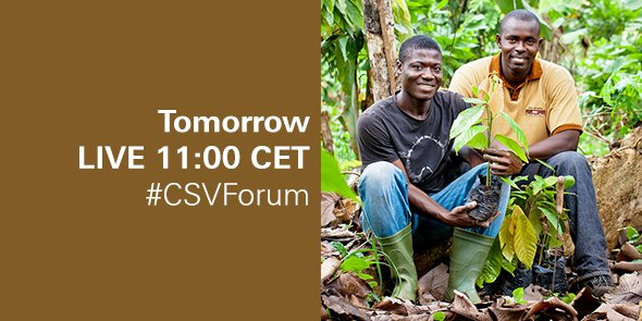 Our #CSVForum will be webcast live tomorrow at 11:00 CET: https://t.co/CwHXRVyFaa #SDGs https://t.co/5AIiZ75Ysq