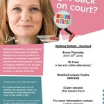 Walking Netball starts in #Hereford next week! Come & join us! #HerefordHour https://t.co/ZIH6kKfv9E