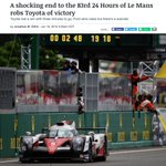 There was more sports drama than the NBA Finals and US Open this weekend #LeMans https://t.co/U1zAR0s18z https://t.co/Tt5ZKo83t3