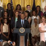 WATCH LIVE: @POTUS honors the Minnesota Lynx for their 2015 WNBA Championship https://t.co/CG3UHU6YII https://t.co/wSDEAWmPPZ