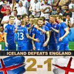 INCREDIBLE! Iceland shocks England, knocking them out of the EUROs with a 2-1 victory in the Round of 16. https://t.co/tmVZYkQ07p