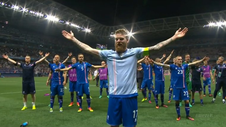 What an incredible game and an incredible story. Áfram Ísland! Go #Iceland! #ISL #ENG #Euro2016 https://t.co/KoxbljoAKW