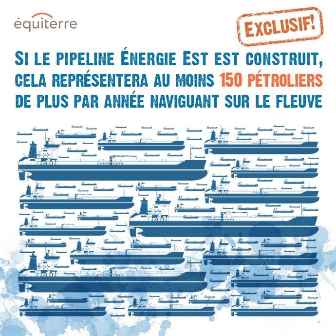 Si #ÉnergieEst est construit il y aura au moins 150 pétroliers de plus par an sur le fleuve! https://t.co/HqYeTaBDT6 https://t.co/512tefpWDF