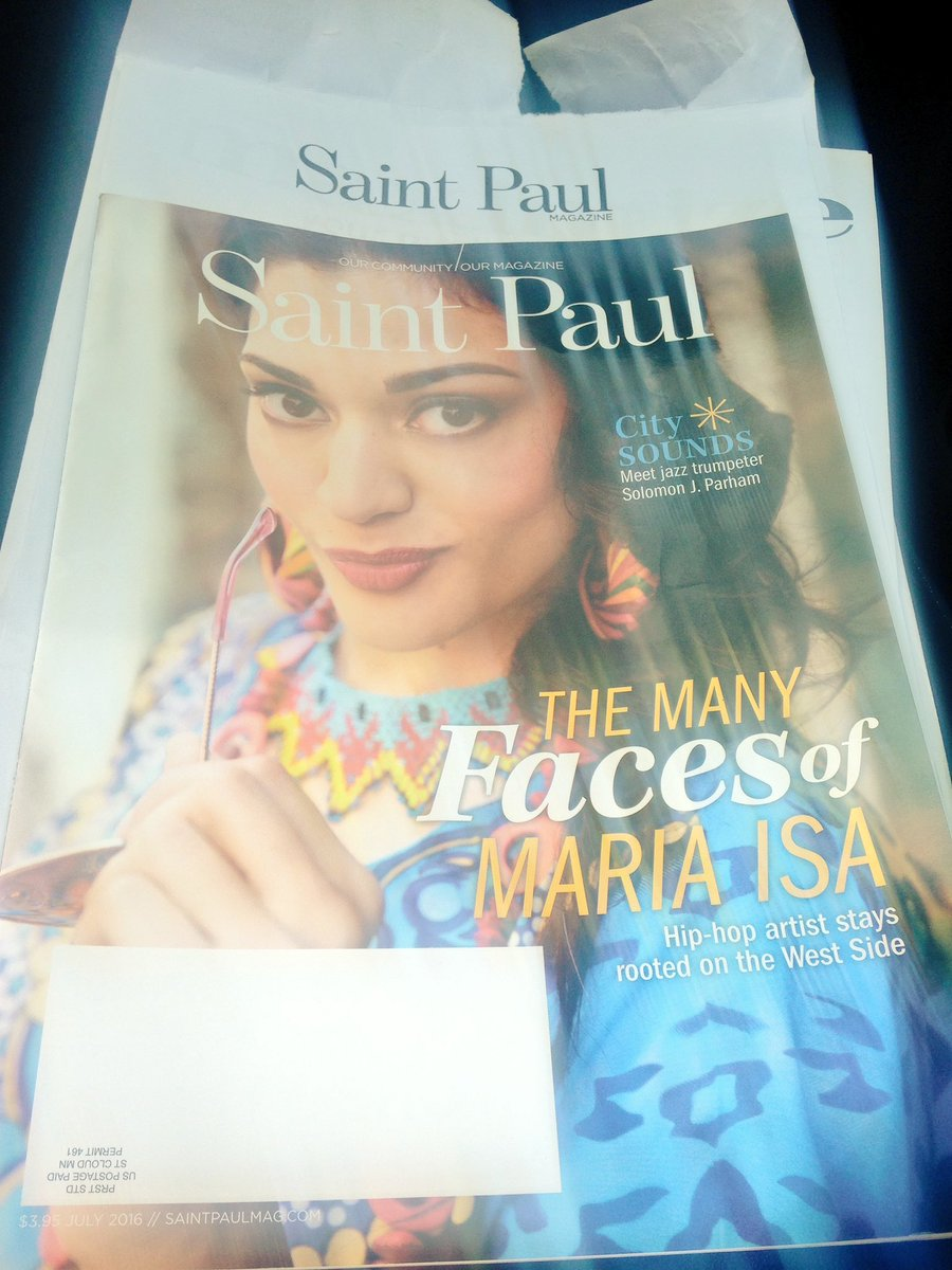 My copy of @SaintPaulMag arrived in the mail 2day. Go get it! Blessed &honored 2have my hometown celebrate my work