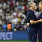 #ISL coaches Lars Lagerbäck and Heimir Hallgrímsson enjoy the moment together. 👏❤ #ENGISL #EURO2016 https://t.co/4UaDufxQeA