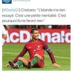 [#EURO2016] Cette Décla de Ronaldo après son match contre lIslande... https://t.co/bJLejZ7qDS