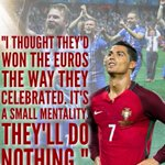 A reminder that Cristiano Ronaldo said this after Iceland drew with Portugal in their 1st match of the tournament. https://t.co/MRkUwZNaO7