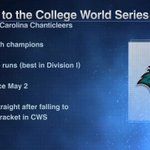 Coastal Carolina is 1st team to reach championship game in its College World Series debut since Georgia Tech in 1994 https://t.co/z60432OD8t