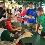 Dallas Cowboys linebacker @thejaylonsmith signing autographs for fans before the @TinCaps game. @WFFTLocal https://t.co/IWwbY4b4N1