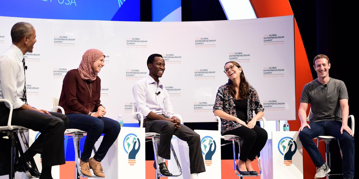 """Entrepreneurship is about creating change—not creating a company."" —Mark Zuckerberg at #GES2016 #MotivationMonday https://t.co/ZdKcZmTEis"
