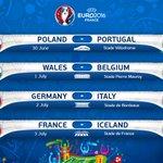 Así quedaron los Cuartos de Final de la #EURO2016 ,   Por -> https://t.co/ZdHYCk6PiM https://t.co/xCfS0GLPtz