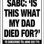 """In your @TheCapeArgus - @lukhanyocalata asks: """"Is this what my father died for?"""", in the wake of SABC fallout https://t.co/FViDdgS4N6"""