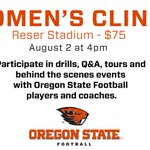 Are you signed up yet for our Womens Football Clinic? Register here: https://t.co/1RjWYpuVmf #GoBeavs https://t.co/MZYvffOFW1