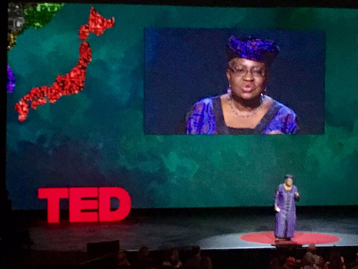 Majestic former Finance Minister of Nigeria @NOIweala takes specifics about how to keep #Africa rising. #TEDSummit https://t.co/fwt3SC8hgu