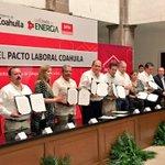 Firma de Pacto Laboral #Coahuila en beneficio de los derechos y potencialidades de nuestra fuerza laboral @STPS_mx https://t.co/mVyNBrO1So