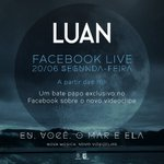 Facebook Live com Luan Santana às 18h, acesse https://t.co/w1wbyY3ihS e participe! #EVME https://t.co/gafLWMa4Ln https://t.co/C5JNyzgL6b