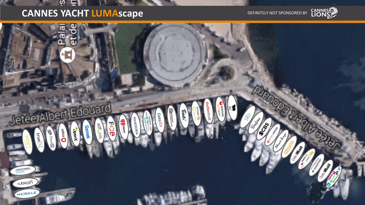 The CANNES YACHT LUMAscape is out! #CannesLions https://t.co/EgUlaEh5og