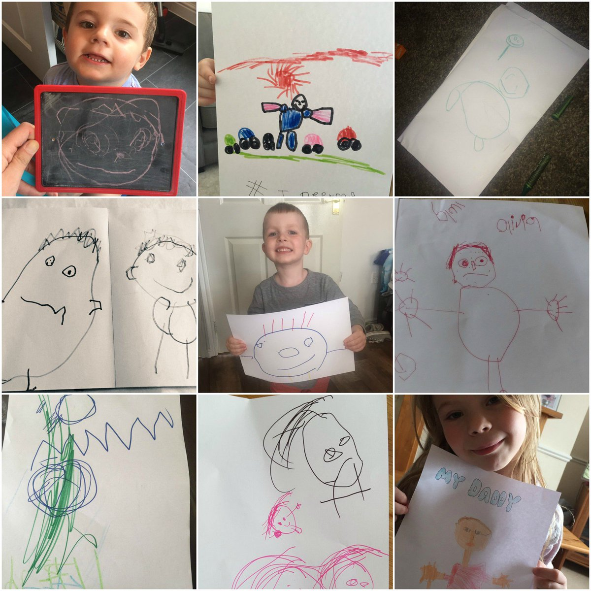 Tweet us a picture of your little one's daddy drawings using #IDrewDad for the chance to win a bundle of paints! https://t.co/wWMfXftKZI