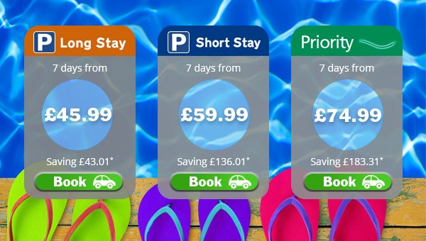 Book holiday parking by 30/06 for your chance to win a VIP airport apply.