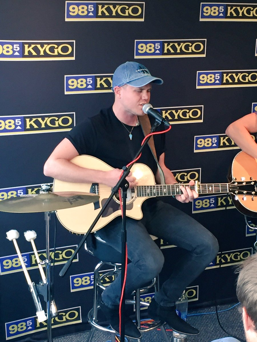 Studio performance today with @TrentWHarmon from @AmericanIdol #985KYGO https://t.co/MvTmYM3CJg