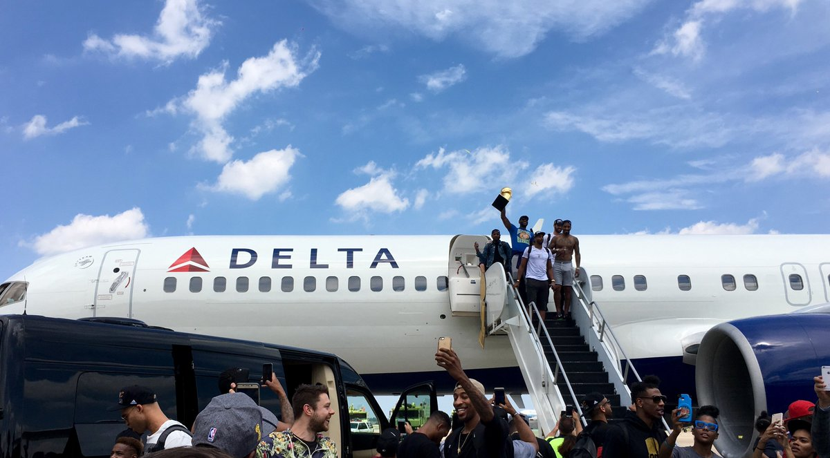 .@Delta carries Clevleland Cavaliers to the NBA championship.