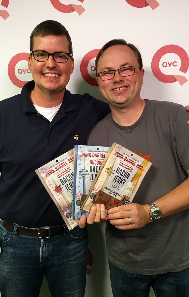 Getting ready to be on @qvc with our @BeyondTheTankTV #bacon jerky - order now at https://t.co/oFW8Cl15PX$ https://t.co/gVcS45fBRO