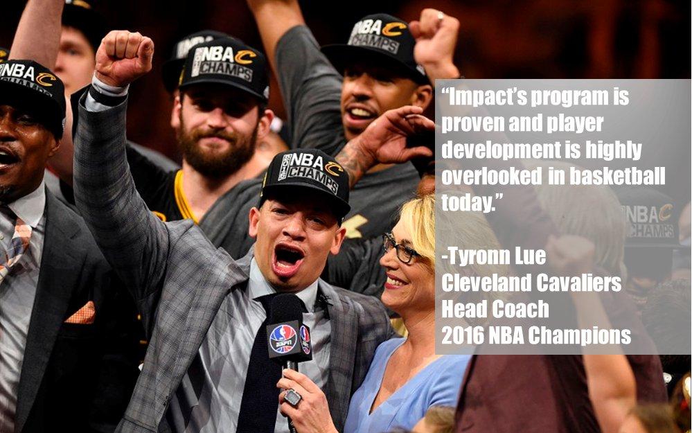 Congrats to Impact's 1st Cert Coach to win an #NBAChampionship. Be like Coach Lue today https://t.co/bIafzKzIva. https://t.co/52paYCIrJo