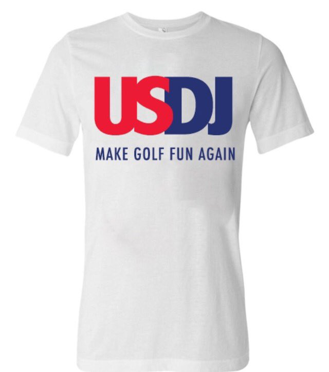 BREAKING: The USDJ Make Golf Fun Again tee is now LIVE https://t.co/s0cxr8JcKT #golf #usopen #dj https://t.co/tWBbtAdFG9