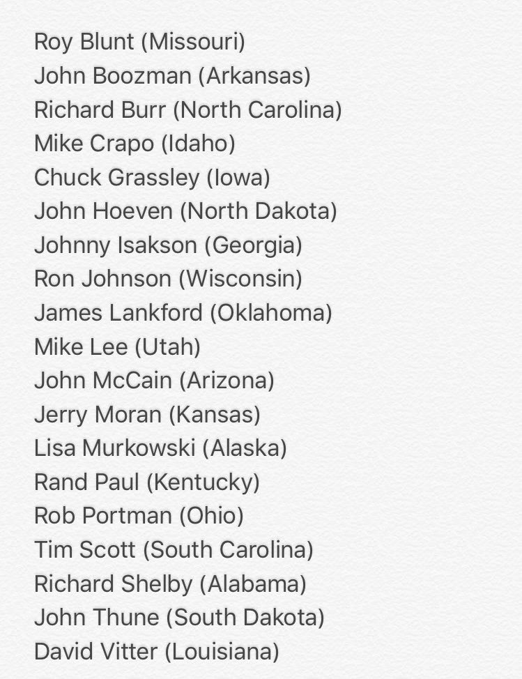 List of Senators who just voted to allow suspected terrorists to buy guns...& are up for reelection (Via @sonicdork) https://t.co/25f4l8ENxT