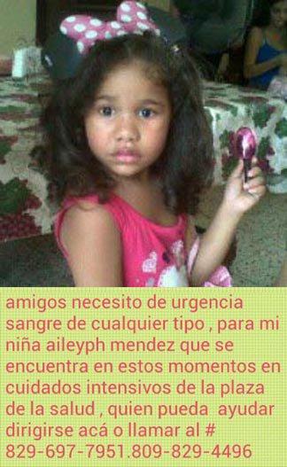 911- Se necesita donante de Sangre para ella... RT RT RT RT RT https://t.co/TuKOjF3aSj