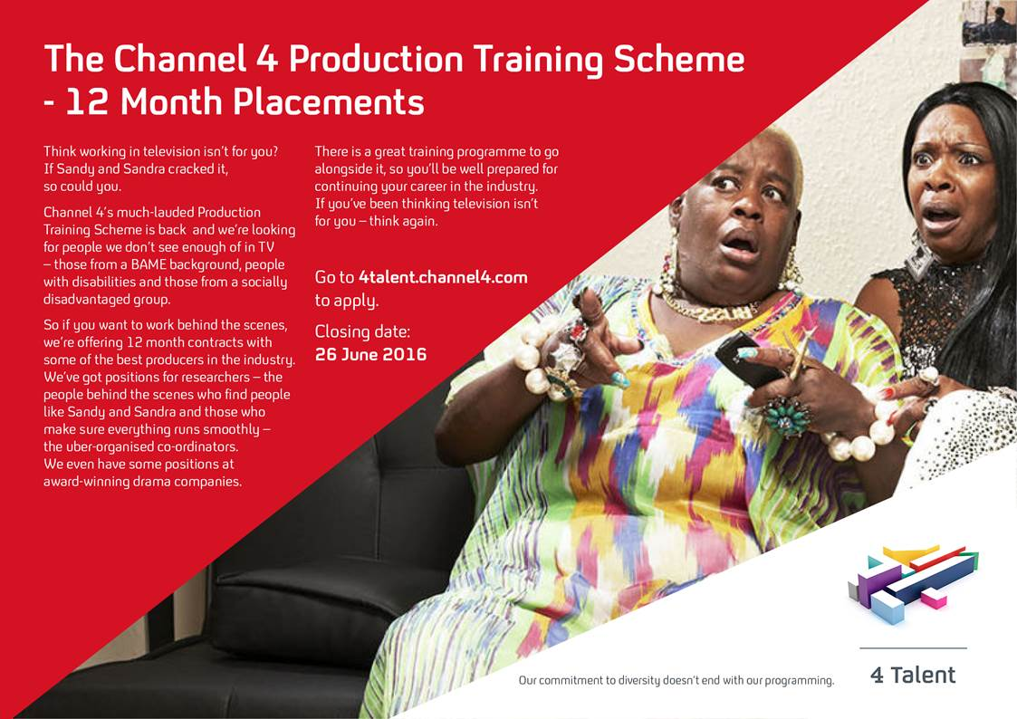 Interested in a career in the media? @Channel4 are offering production training schemes for young disabled people https://t.co/YAZJVvF5g9