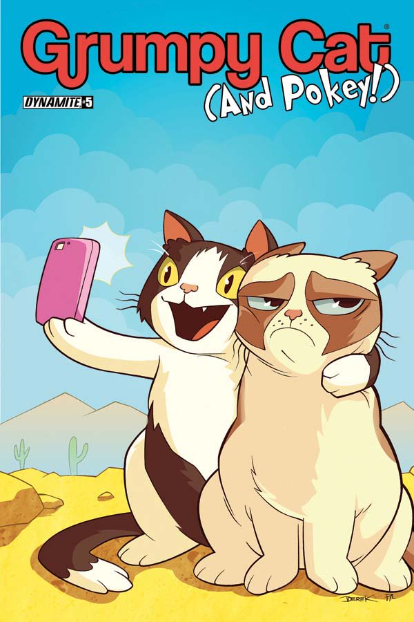 GRUMPY CAT & POKEY #5 on-sale 6/22! Cover C by Derek Fridolfs! @BenMcCool @BenjaminPFisher @steveuyart @kenhaeser https://t.co/9zm9rZjywN