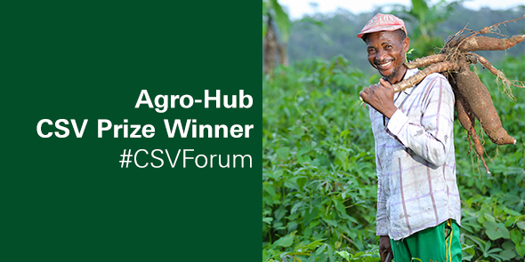 Congratulations @AgroHub from Cameroon! You've won the CSV Prize 2016: https://t.co/tjr4DhAs2c #CSVForum https://t.co/0OtbrfEERF