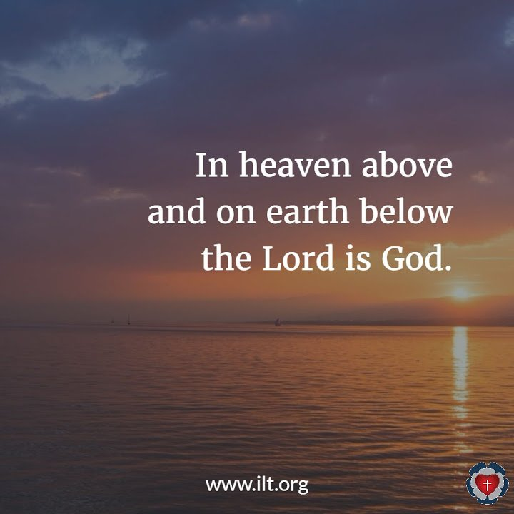 Take to heart this day that the Lord is God in heaven above and on the earth below. There is no other.  -Deut 4:39 https://t.co/kM5DOTCafv