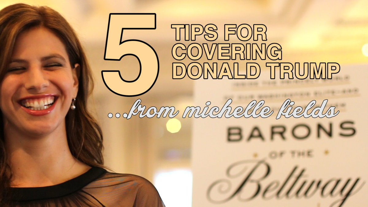 5 Tips for Covering Donald Trump, by Michelle Fields (@MichelleFields): https://t.co/4p8clZgPJ2 https://t.co/X52s7i9hdj